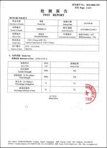 Сертифікат на A193 B8M CL2