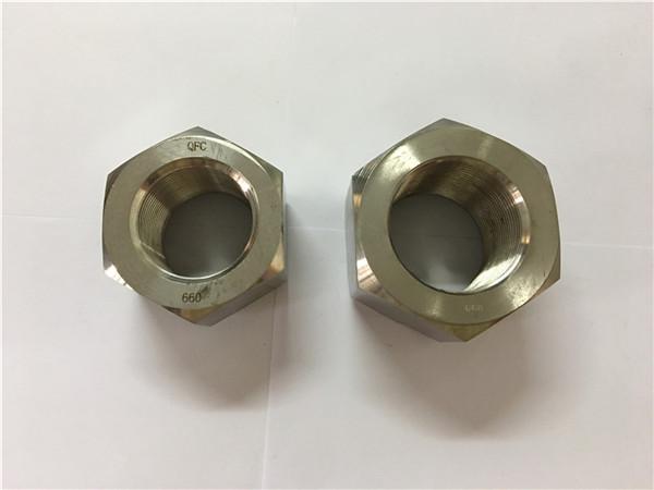 виробництво нікелевого сплаву a453 660 1,4980 шестигранних гайок