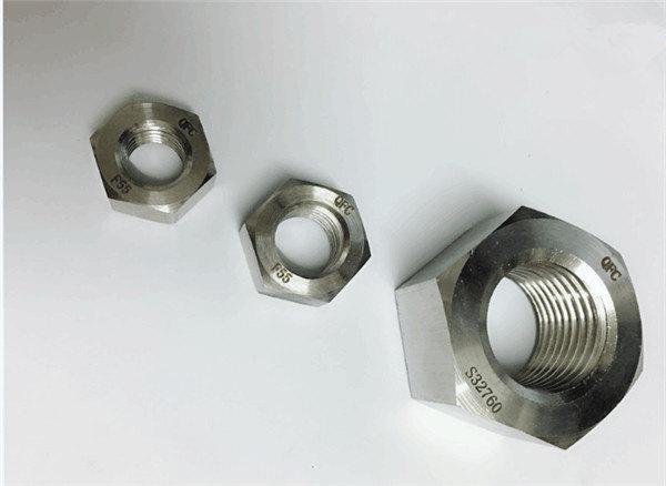 дуплекс 2205 / f55 / 1.4501 / s32760 кріплення з нержавіючої сталі важкі шестигранні гайки m20